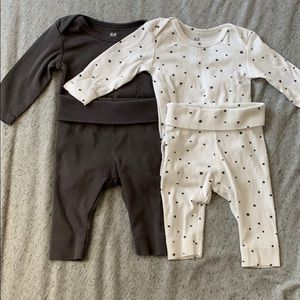 H&M baby 4 piece outfit bundle newborn/1-2 months